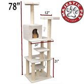 "78"" Bungalow Sherpa Cat Tree"
