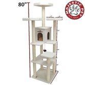 "80"" Bungalow Sherpa Cat Tree"