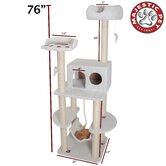 "76"" Bungalow Sherpa Cat Tree"