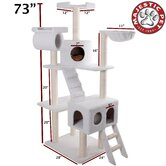 73&quot; Bungalow Sherpa Cat Tree