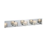 Blocs Five Light Vanity Light in Chrome