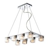 Blocs 8 Light Kitchen Island Pendant