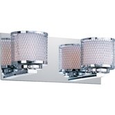 Mesh Two Light Bath Vanity in Polished Chrome