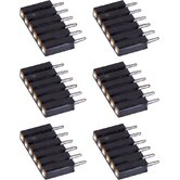 StarStrand LED Tape 6-Pin Male Extender (6 Pack)