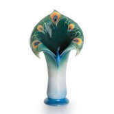 Peacock Splendor Large Porcelain Vase