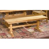 Country Hickory Kitchen Bench