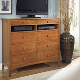 Cherry Garden 8 Drawer Media Dresser