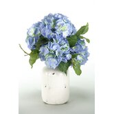 Hydrangea Bouquet in Distressed Water Jug