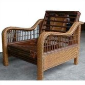 Rattan Floral Orchid Futon Chair Frame