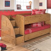 Elsa Twin Loft Bed with Trundle Bed and Storage