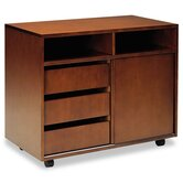 Stella Series Veneer Mobile Storage Cabinet in Toffee
