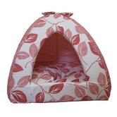 Leaf Tent Pet Bed in Pink
