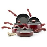 Porcelain Nonstick Aluminum 15-Piece Cookware Set
