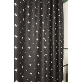 Black Skullstar Shower Curtain
