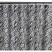 Dreamy Linens Zebra Black Shower Curtain
