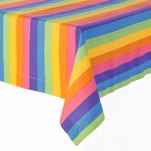 Colorful Rainbow Print Tablecloth