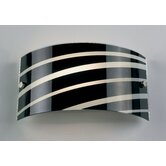 Sloping Black or White Stripes Wall Light in Black