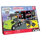 Monster Jam Grave Digger Transporter Rig Building Set