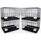 Lot of Four Medium Bird Breeding Cages