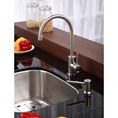 "Stainless Steel Undermount 20"" Single Bowl Kitchen Sink with 14"" Kitchen Faucet and Soap Dispenser"
