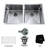 "33"" Double Bowl 50/50 Undermount Kitchen Sink"