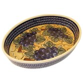 "14"" Oval Baking Pan - Pattern DU8"