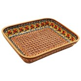 "10""  Rectangular Baking Pan - Pattern DU70"