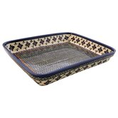 "13"" Rectangular Baking Pan - Pattern DU60"