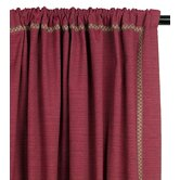 Tahiti Cotton Vivo Sumac Left Curtain Panel