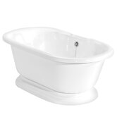 Beacon Hill AcraStone Double Ended Bath Tub with No Faucet Holes in White