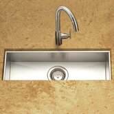 Contempo Zero Radius Undermount Trough Bar/Prep Kitchen Sink in Brushed Satin