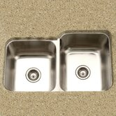 Medallion Classic Undermount Double Bowl 60/40 Kitchen Sink with Small Left Bowl in Satin