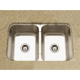 Medallion Gourmet Undermount Double Bowl 50/50 Kitchen Sink in Satin