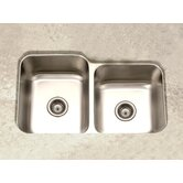 Elite Undermount Double Bowl 60/40 Kitchen Sink in Satin