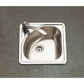 Hospitality Topmount Corner Bar Sink in Satin