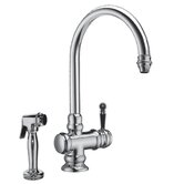 Empire One Handle Single Hole Kitchen Faucet with Side Spray