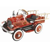 Kalee Deluxe Fire Truck Pedal Car in Red