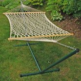 Rope Hammock and Stand Set