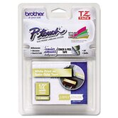P-Touch Tz Standard Adhesive Laminated Labeling Tape, 1/2&quot; X 16.4 Ft.