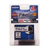 Laminated Tape Cartridge, For EZ Models, 1/4&quot;, Black/Clear