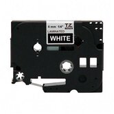 Laminated Tape Cartridge, For TZ Models, 1/4&quot;, White/Black