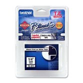 P-Touch Tze Extra-Strength Adhesive Laminated Labeling Tape, 1/4&quot; Wide