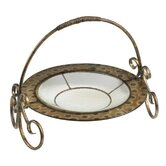 Saddlebrook Glass Plate with Stand in Appaloosa Bronze