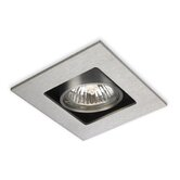Cube 1 Light Downlight in Brushed Steel