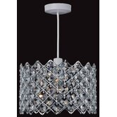 26cm Non - Electric One Light Crystal Pendant in Chrome