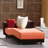 Morganite Leatherette Chaise Lounge
