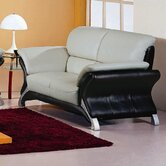 Keith Leather Loveseat