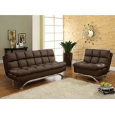 Aristo Bi-Cast Leather Convertible Sofa