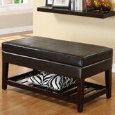 Ramon Leatherette Storage Ottoman Bench in Dark Espresso