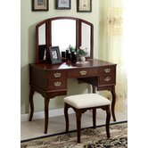 Madera Vanity Table with Matching Stool